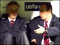 Rick Parry and Liverpool manager Rafael Benitez