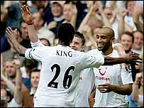 Ledley King, Michael Carrick and Frederic Kanoute