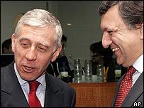Jack Straw and Jose Manuel Barroso