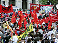 TUC workers' march May 2005