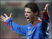 Man Utd winger Cristiano Ronaldo