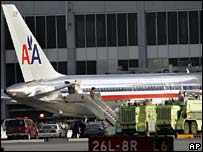 American Airlines plane at Miami airport
