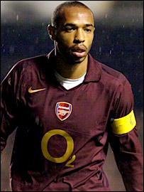 Thierry Henry looks non-plussed after seeing his penalty go wide