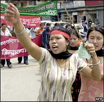 Pro-democracy protest in Kathmandu