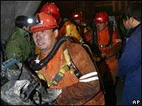 Miners at mine in Tangshan
