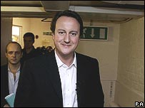 Conservative leader David Cameron at the Eastside Young Leaders' Academy