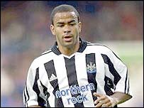 Newcastle midfielder Kieron Dyer