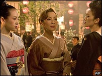 (from left) Ziyi Zhang, Michelle Yeoh and Gong Li