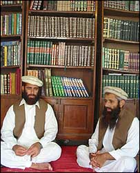 Badar Zaman Badar [L] and Abdul Rahim Muslim Dost