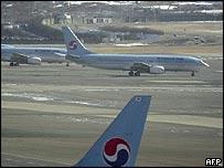 Korean Air planes at Gimpo