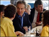 Tony Blair and Gordon Brown at Ikea