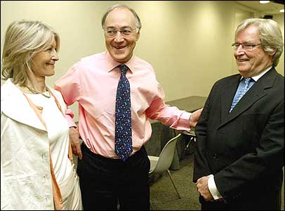 Sandra Howard, Michael Howard and Bill Roache