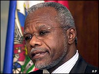 Former Haitian Prime Minister Yvon Neptune. Archive picture
