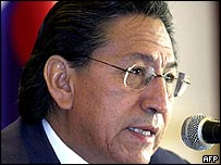Peruvian President Alejandro Toledo