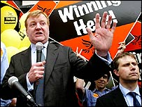 Charles Kennedy, campaigning in Taunton