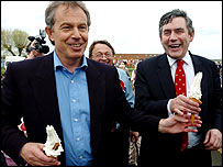 Tony Blair and Gordon Brown campaigning in Gillingham