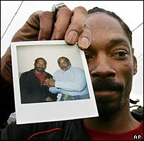Rap star Snoop Dogg