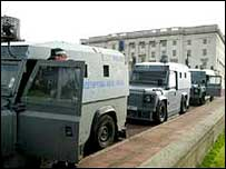 Police raided Sinn Fein offices at Stormont