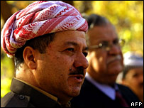 Massoud Barzani (L) and Jalal Talabani