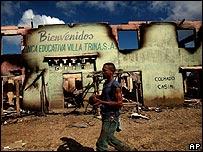Villa Trina,  en Rep�blica Dominicana, donde se enfrentaron dominicanos e inmigrantes haitianos