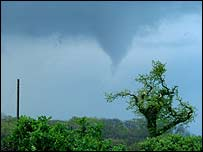 Tornado over Hoghton - picture courtesy of James Holden