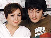 Charlotte Coleman with Dylan Moran in the comedy 'However do you want me'