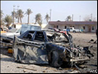 Aftermath of suicide car bomb attack
