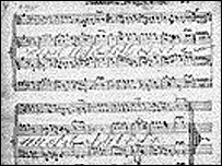 The oldest known copy of the Welsh national anthem - picture courtesy of the National Library of Wales