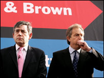 Gordon Brown and Tony Blair