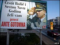 Poster showing Gen Ante Gotovina in Split