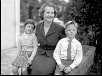 Young Carol and Mark with mother, Margaret