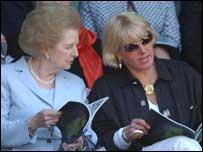 Margaret and Carol at Wimbledon in 2004