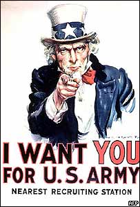 Uncle Sam recruiting poster made famous during two world wars