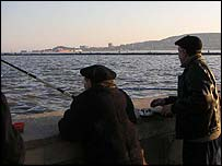Caspian Sea fishermen