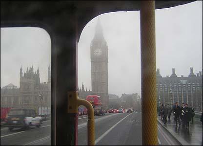 Routemaster on Westminster Bridge (photo: James, London)