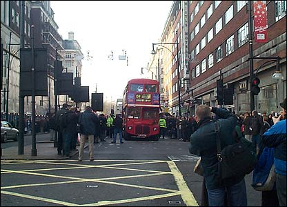 A Routemaster in Oxford Street (photo: Mark Parsons)