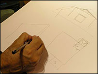 Architect Nayyar Ali Dada works on prefab plans