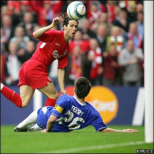 Luis Garcia scores for Liverpool