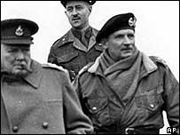 Winston Churchill and Field Marshal Sir Bernard Montgomery