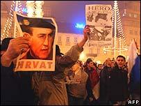 Gotovina supporters in Zagreb