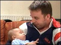 Adam Taylor and son Nathan