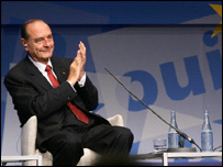 Jacques Chirac makes his televised appeal to voters