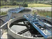 Open water treatment tanks