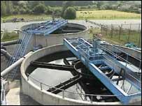 Open water treatment tanks