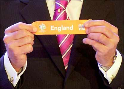 England are drawn