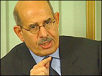 Mohamed ElBaradei, head of IAEA.