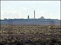 The Israeli nuclear plant at Dimona