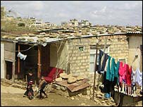Hillside homes of refugees