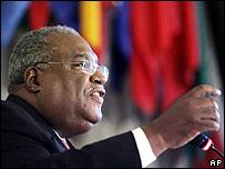 Haitian interim Prime Minister Gerard Latortue