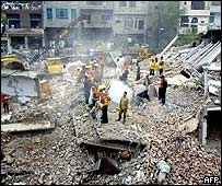 Rescue site at Lahore gas blast